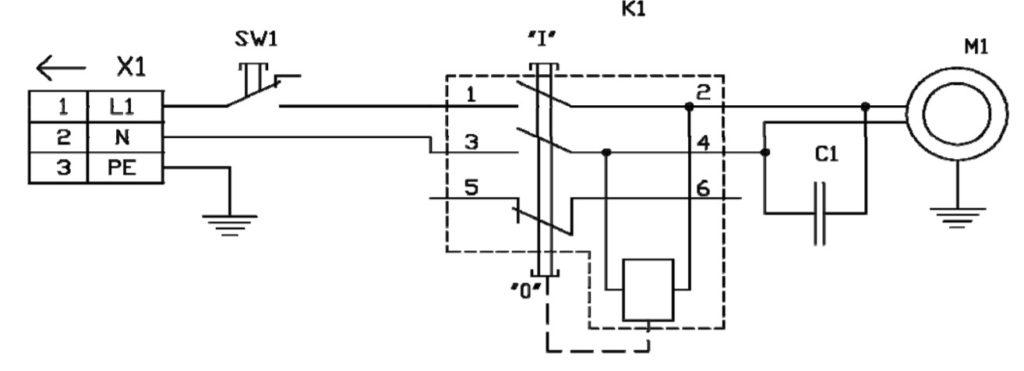 SW1 - Концевой выключатель кожуха