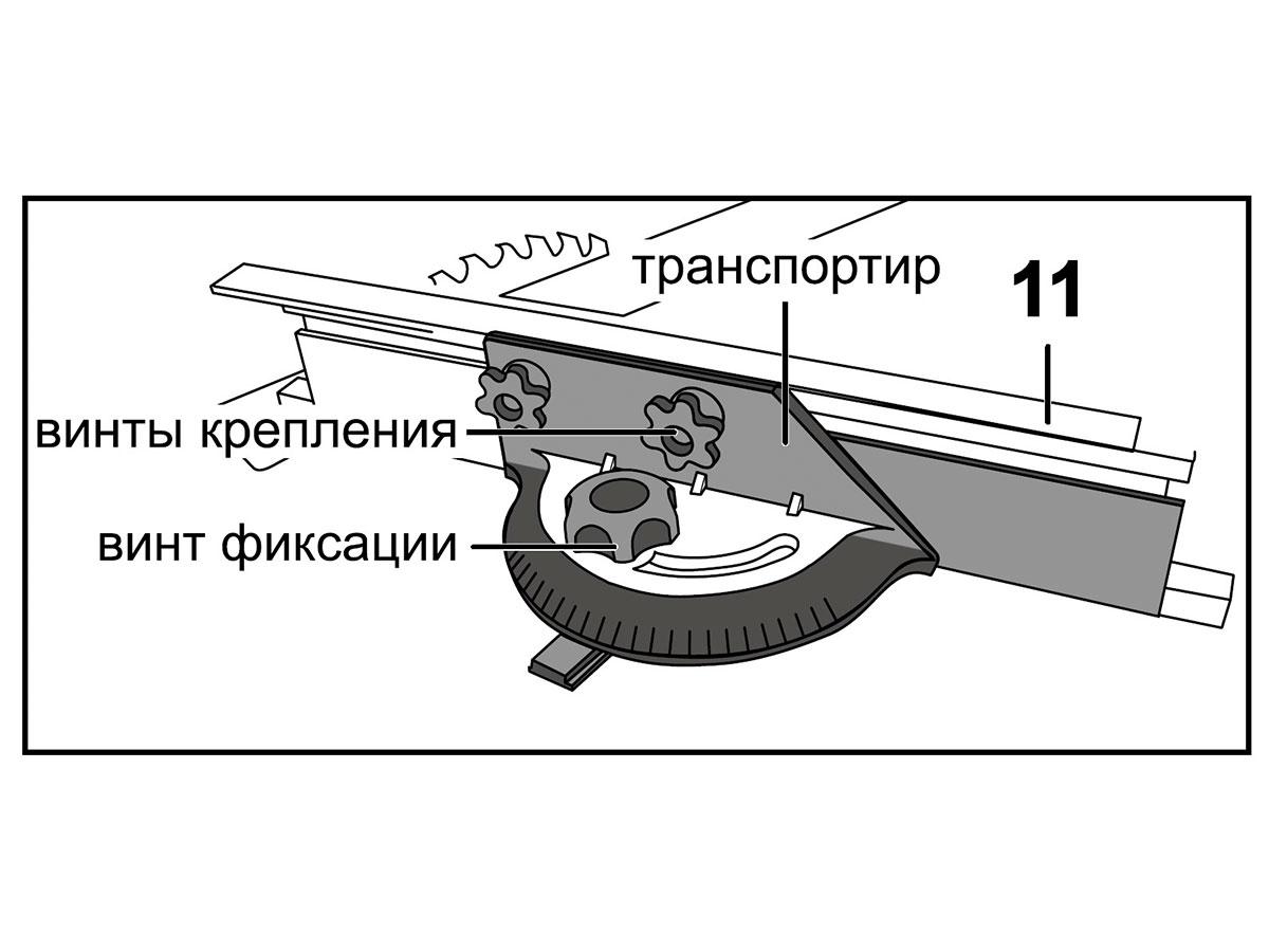 Установка (при необходимости) упора углового